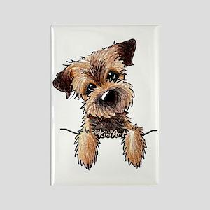 Pocket Border Terrier Rectangle Magnet
