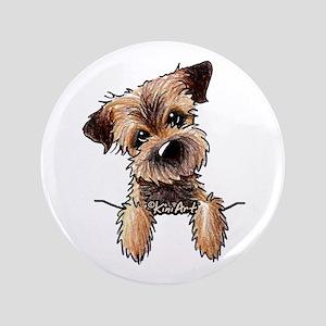 "Pocket Border Terrier 3.5"" Button"