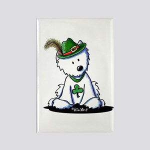 St. Patrick Westie Rectangle Magnet