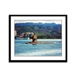 USS HAWKBILL Framed Panel Print