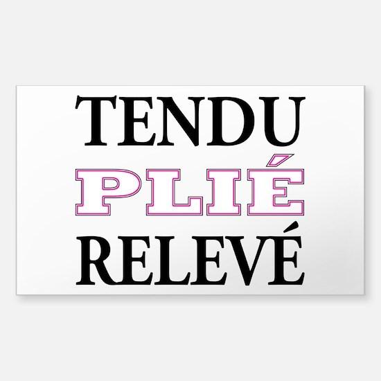 Tendu, Plie, Releve (Pink Design) Decal