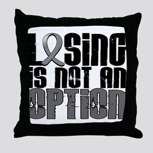 Losing Is Not An Option Parkinsons Throw Pillow