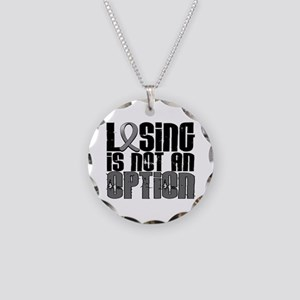 Losing Is Not An Option Parkinsons Necklace Circle