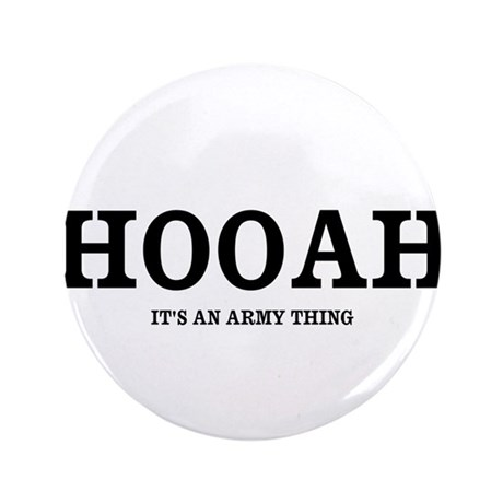 """HOOAH (Army Pride) 3.5"""" Button (100 pack)"""