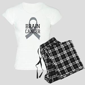 Brain Cancer Gray Ribbon Women's Light Pajamas
