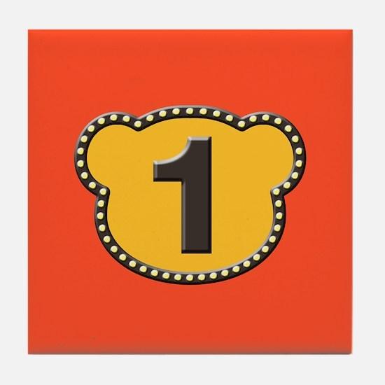Bear Head Number 1 One Tile Coaster