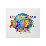 World Cancer Awareness Matter Throw Blanket