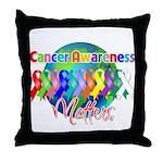 World Cancer Awareness Matter Throw Pillow