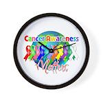 World Cancer Awareness Matter Wall Clock