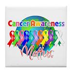 World Cancer Awareness Matter Tile Coaster