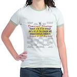 Democrat Tissue of Lies Jr. Ringer T-Shirt