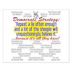 Democrat Tissue of Lies Small Poster