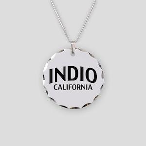 Indio California Necklace Circle Charm