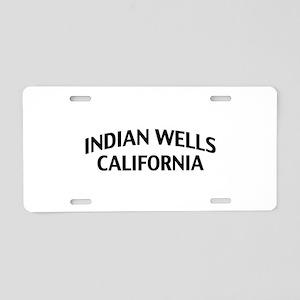 Indian Wells California Aluminum License Plate