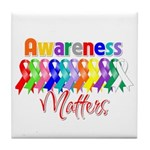 Ribbon Awareness Matters Tile Coaster