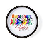 Ribbon Awareness Matters Wall Clock