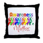 Ribbon Awareness Matters Throw Pillow