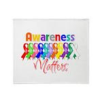 Ribbon Awareness Matters Throw Blanket