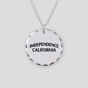 Independence California Necklace Circle Charm