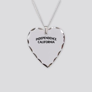 Independence California Necklace Heart Charm