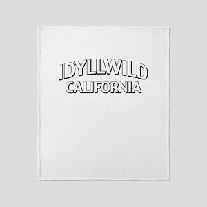 Idyllwild California Throw Blanket