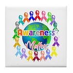 World Awareness Matters Tile Coaster