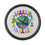 World Awareness Matters Large Wall Clock