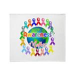 World Awareness Matters Throw Blanket