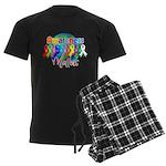 Globe Awareness Matters Men's Dark Pajamas