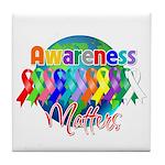 Globe Awareness Matters Tile Coaster