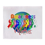 Globe Awareness Matters Throw Blanket