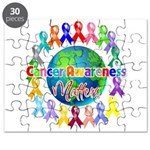 Cancer Awareness World Puzzle