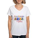 Cancer Ribbon Matters Women's V-Neck T-Shirt