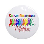 Cancer Ribbon Matters Ornament (Round)