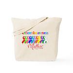 Cancer Ribbon Matters Tote Bag