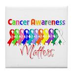 Cancer Ribbon Matters Tile Coaster