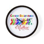 Cancer Ribbon Matters Wall Clock