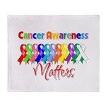 Cancer Ribbon Matters Throw Blanket