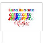Cancer Ribbon Matters Yard Sign