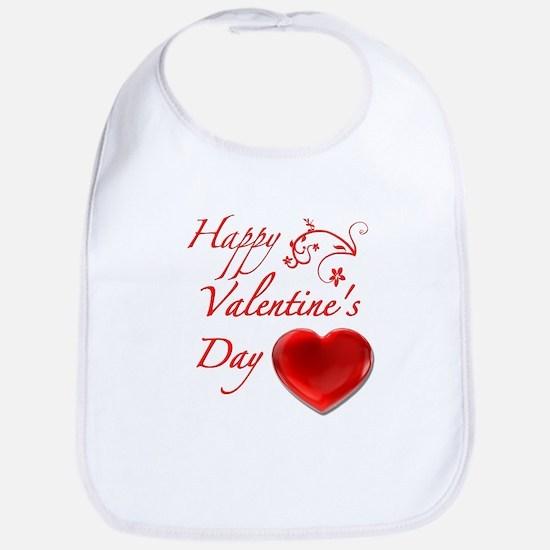 Happy Valentine's Day Bib
