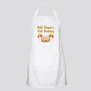 PERSONALIZED 65 YR OLD Apron