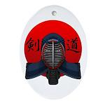 Kendo men2 Ornament (Oval)