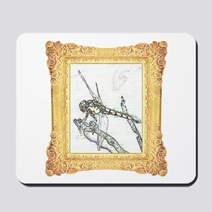Yellow Framed Dragonfly Mousepad