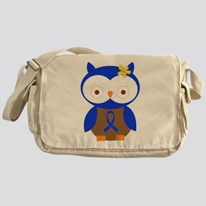 Blue Ribbon Owl Awareness Messenger Bag
