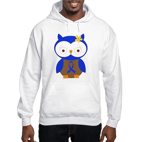 Blue Ribbon Owl Awareness Hooded Sweatshirt
