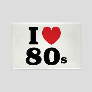 I Heart 80s Rectangle Magnet