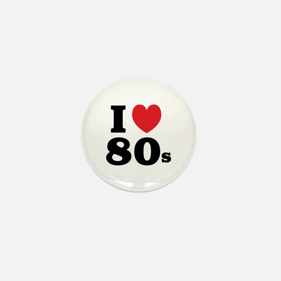 I Heart 80s Mini Button