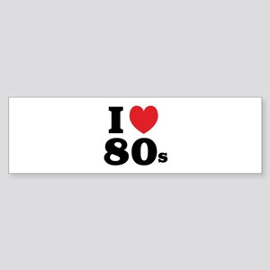 I Heart 80s Sticker (Bumper)