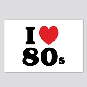 I Heart 80s Postcards (Package of 8)