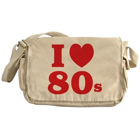 I Heart 80s Messenger Bag